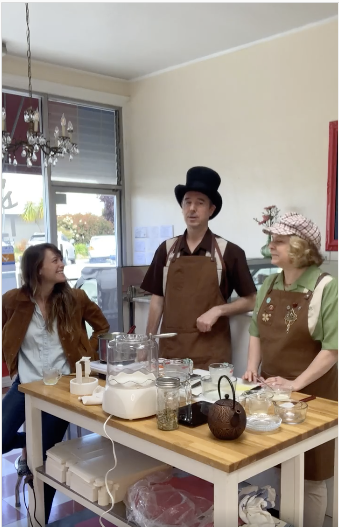 Jolly, Essie, and Renee Making Ice Cream together
